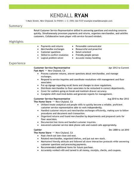 retail resume skills manager list creer pro