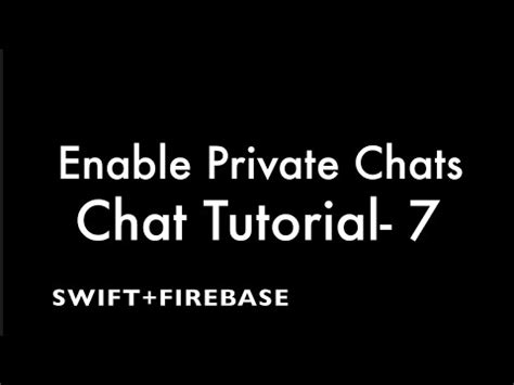 firebase chat tutorial ios part 6 2 firebase realtime chat ios swift enable