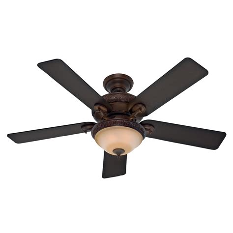 indoor ceiling fans with lights shop hunter vernazza 52 in brushed cocoa indoor downrod or