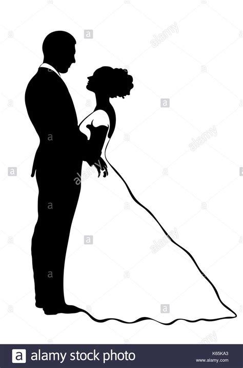 braut zeichnen la novia y el novio silueta vector icono contorno