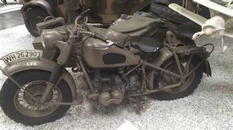 Bmw Motorrad R75 by Bmw R75 Wehrmacht Youtube