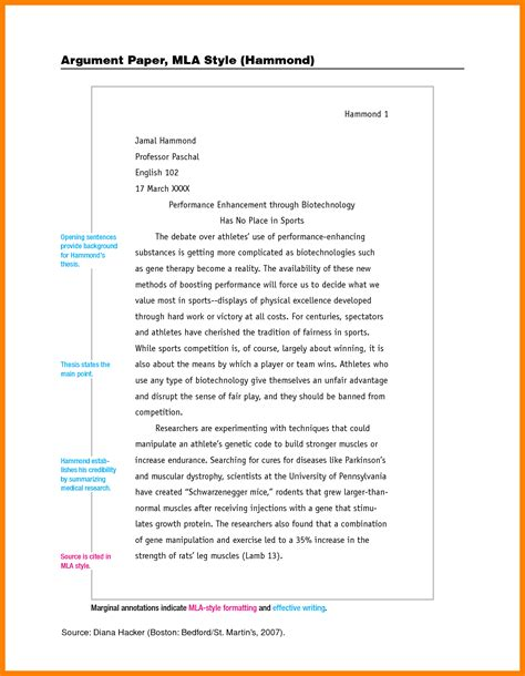 Mla Report Writing Format by 8 Mla Format For Essay Papers New Wood