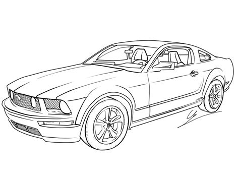Auto Ausmalen by Free Printable Mustang Coloring Pages For