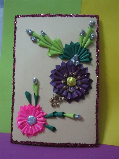 how to make handmade greeting card in flower style