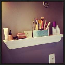 new makeup shelf in bathroom makeup station