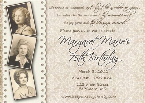 invitations on pinterest birthday invitations 90th