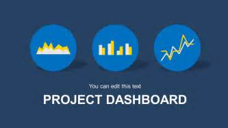 Powerpoint Project Status Dashboard Template by Blue Project Dashboard Powerpoint Template Slidemodel