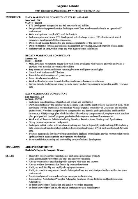 data warehousing analyst resume exle best resume