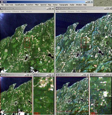 sal software envi georegister and correction