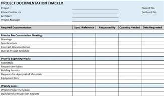 As Built Documentation Template by Free Construction Project Management Templates In Excel