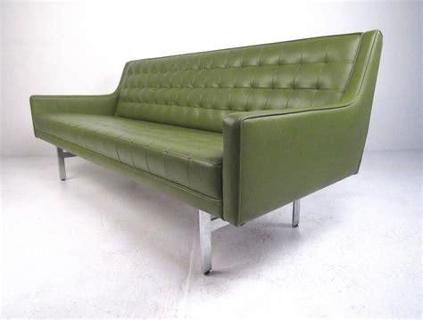 stylish vintage modern sofa vinyl and chrome sofa for sale