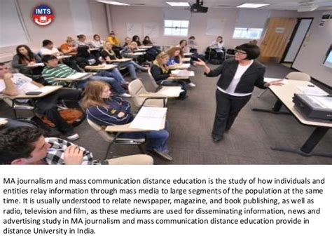 Mba In Journalism And Mass Communication by Ma Journalism And Mass Communication Distance Education