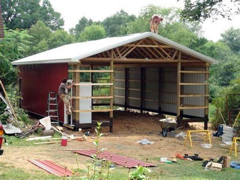 How To Build A Pole Garage by How To Build Pole Barn Construction Discover Woodworking