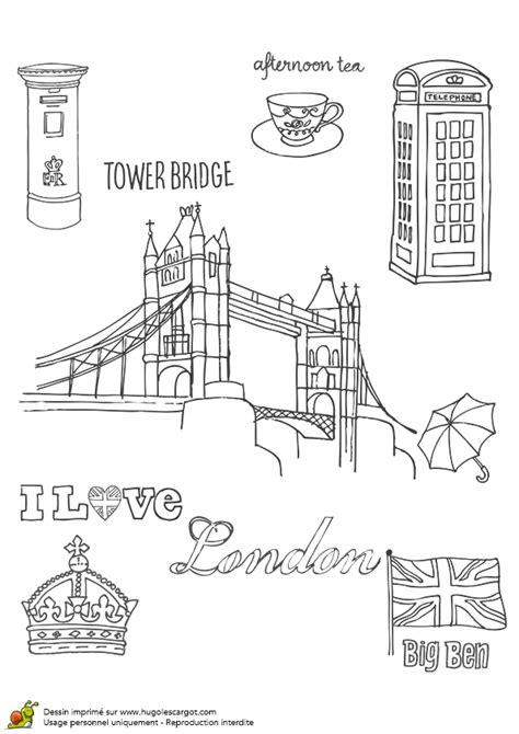 Coloriage Tower Bridge De Londres Hugolescargot Com Coloriage Magique Chateau Royaume Facile Dessin L