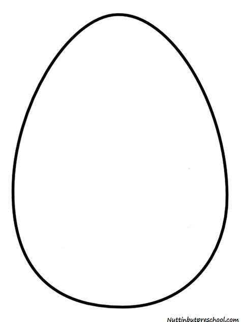 Egg Shape Template easter egg pattern and shiny paint recipe nuttin but preschool