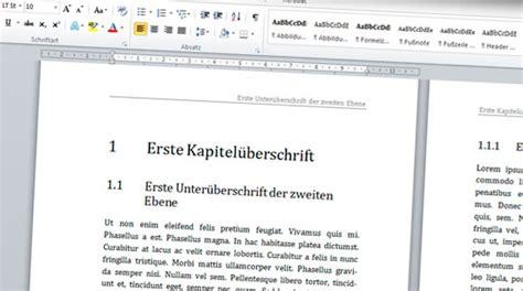 layout bachelorarbeit word layoutvorlagen wissenschaftliche texte