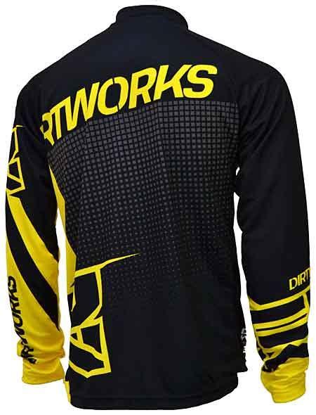 Sepeda Jersey jersey sepeda dirtworks skylar kuning jual baju jersey