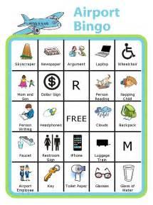 Black Faucet travel bingo for kids car bingo airport bingo