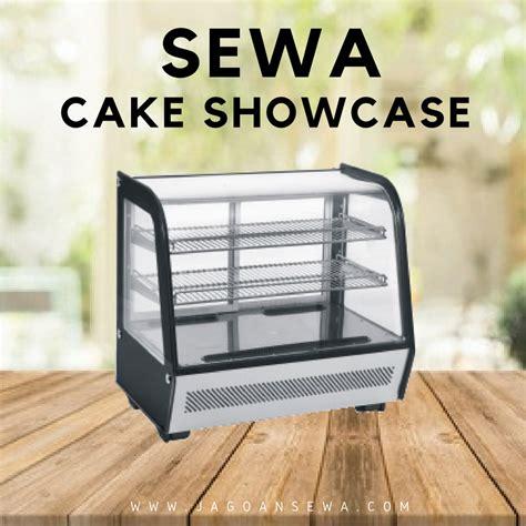 Etalase Kue Showcase Cake Chiller jagoan sewa jasa sewa harian mingguan bulanan freezer