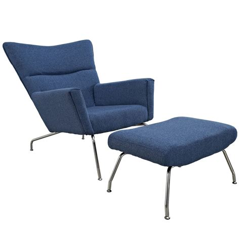 mid century modern fabric reproductions hans wegner wing chair ottoman reproductions fabric