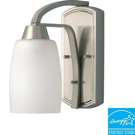 Cheap Light Fixtures Home Depot Wisten Collection Brushed Nickel 1 Light Fluorescent Vanity Fixture 7 85247e 11 Canada Discount