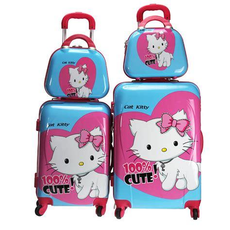 girl  kitty luggage setswomen cartoon travel
