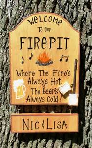 Firepit Signs Items Similar To Welcome To Our Pit Firepit Sign Backyard Or C Cing Bonfire Custom