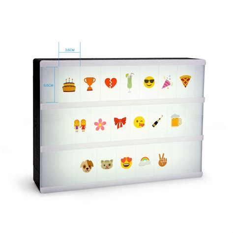 A4 Light Up Box Light Letter Sign Led Diy Cinematic Emoji Light Up Boxes