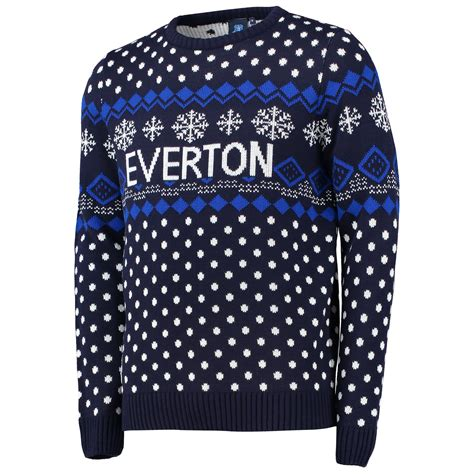 mens pattern christmas jumper everton football club mens christmas jumper sweater