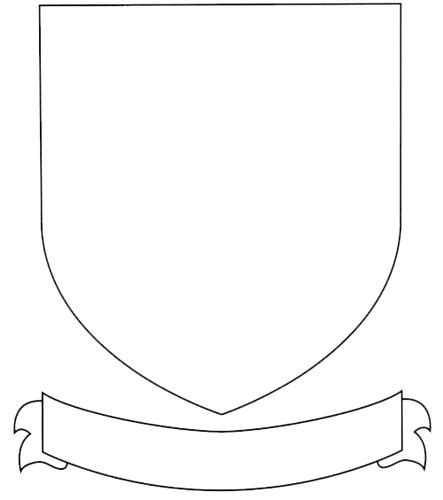 blank shield template printable blank family crest template coat of arms printable free