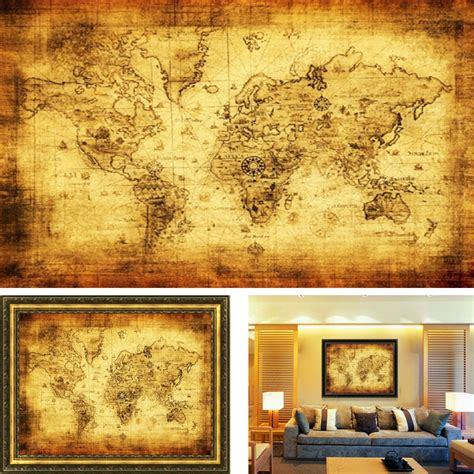 vintage style retro cloth poster globe old world nautical map gifts home decor ebay vintage style retro cloth poster globe old world nautical