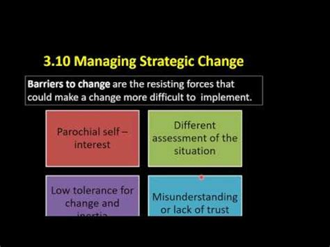 kotter barriers to change 3 10 7 kotter and schlesinger s barriers to change youtube