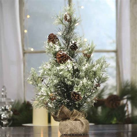 artificial pine trees home decor snowy artificial pine tree and primitive decor