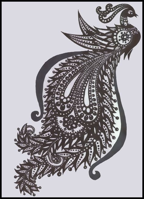 tribal peacock tattoo tribal peacock by candyillusion on deviantart