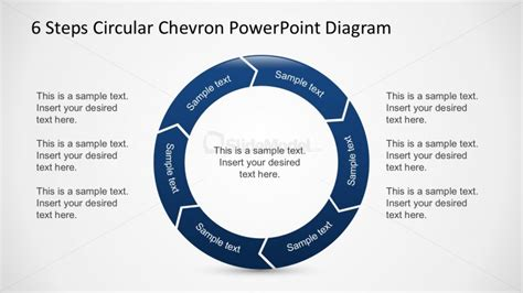 6 steps circular segmented diagram for powerpoint slidemodel free project process planning diagram for powerpoint