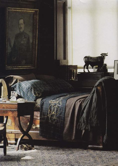 Ralph Lauren Bedroom | masculine bedroom decor gentleman s gazette