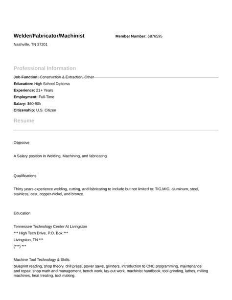 Sle Resume Cover Letter For Welder Resume Welder Fabricator Sales Welder Lewesmr