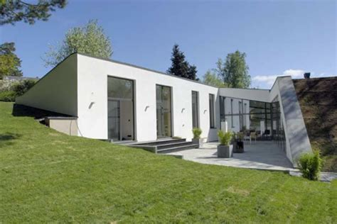 eco house design bunker style houses eco friendly house in stockholm