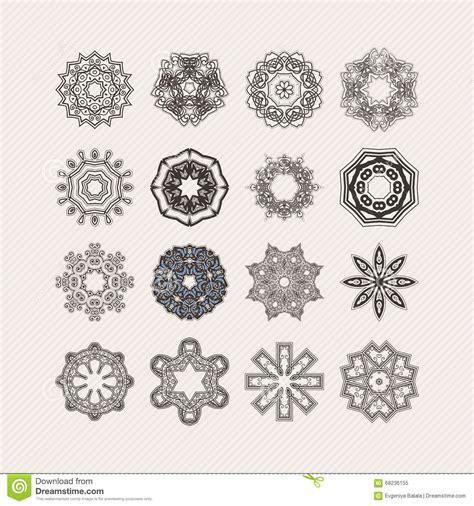 weave tattoo designs set of ornate vector mandala symbols lace