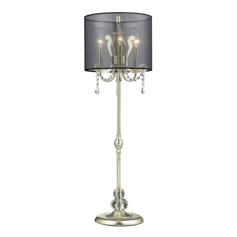 Silver Table L Shades by Shop Westmore Lighting Cantor 37 In Silver Leaf Indoor