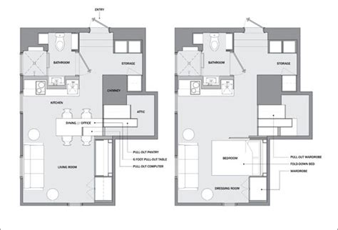 micro apartments floor plans west village micro apartment turns into a multi functional