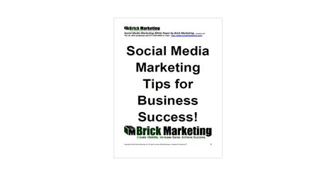 thesis on social media advertising social media marketing tips for business success free
