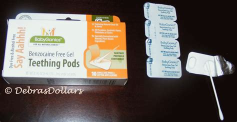 Babyganics Teething Gel Pods 10 Single Use debras dollars it just makes cents say aahhh benzocaine free gel teething pods review