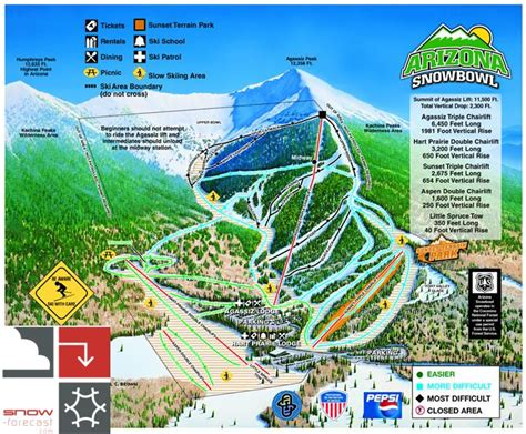 Flagstaff Snowfall arizona snowbowl ski resort guide location map amp arizona