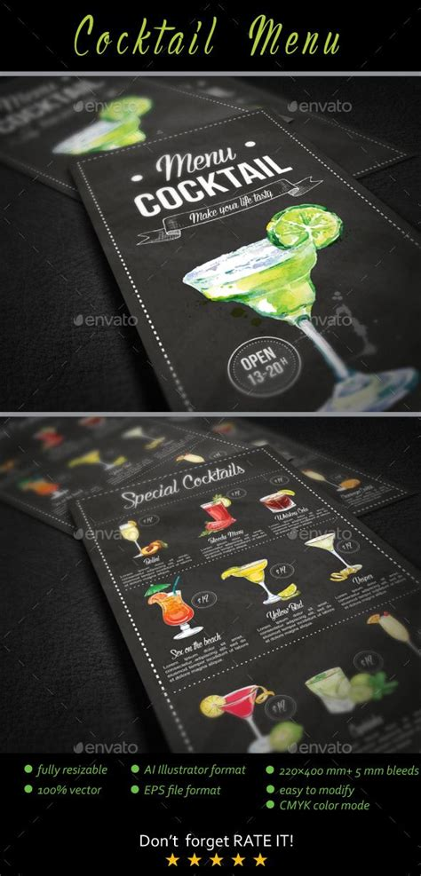cocktail drinks menu best 25 cocktail menu ideas on drink menu