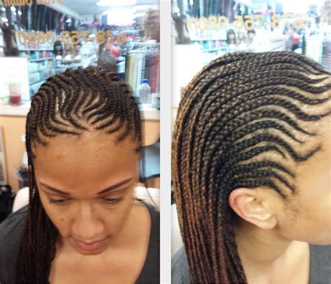 cornrows with hair out in back ahma hair braiding