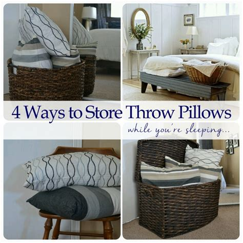 large basket for storing throw pillows anti procrastination tuesday