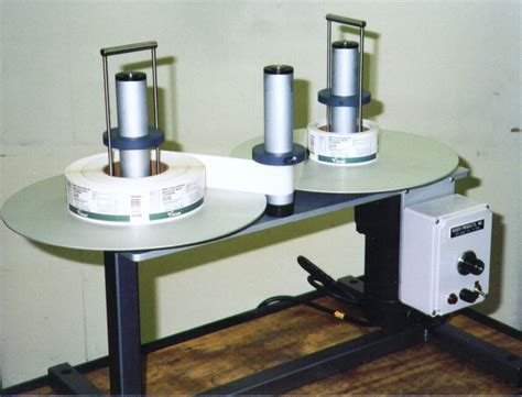 table top label rewinder roser products inc