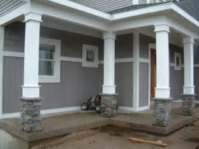 columns for porch at entry way and corners ideas for