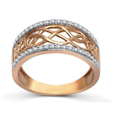 designer rose gold diamond wedding band ring  women